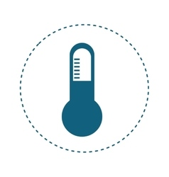 thermometer instrument icon vector image