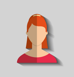 Young woman female avatar vector
