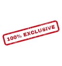 100 percent exclusive text rubber stamp vector