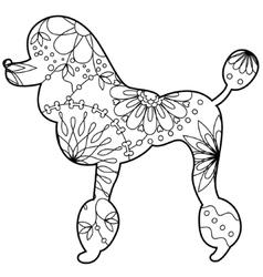 Poodle coloringilhouette vector
