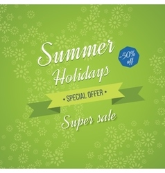 Summer holidays background sale banner vector