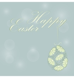 Easter background with decorated flower vector