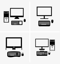 desktop computers vector image