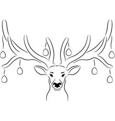 easter deer vector image