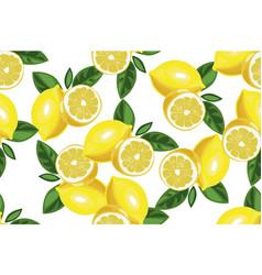 nice lemon background hand drawn seamless vector image