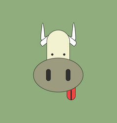 Animals on stylish background cow face vector