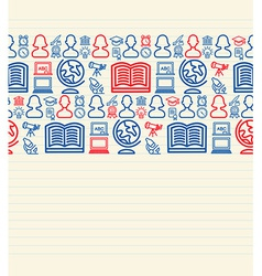Back to school seamless pattern background vector