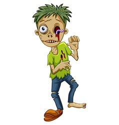 A young male zombie vector