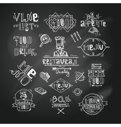 Restaurant label chalkboard vector