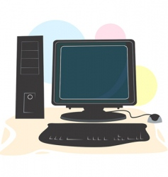 computer system vector image
