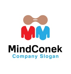 Mind conek design vector