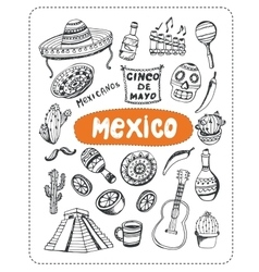 Doodle about mexico vector