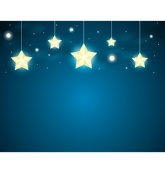 stars on a string vector image