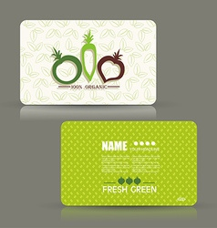 Card set eco design organic foods shop or vegan vector