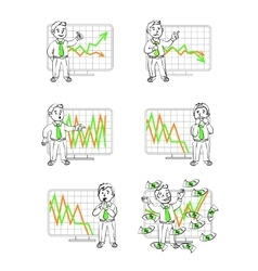 Graphics in  human emotions vector