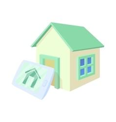 Smart home icon cartoon style vector