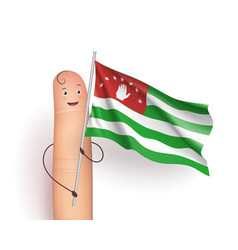 Abkhazia waving flag vector