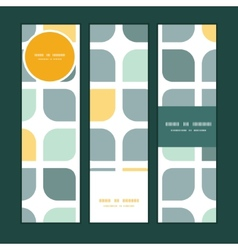 abstract gray yellow rounded squares vector image vector image