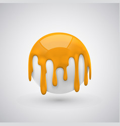 ball with paint drops orange vector image vector image