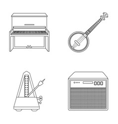 banjo pianoloudspeaker metronome musical vector image vector image