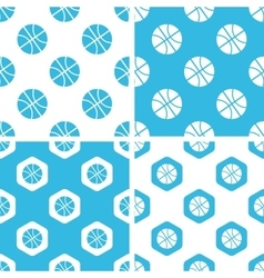 Basketball patterns set vector image vector image