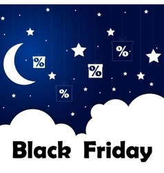 Black friday sale moon and stars eps 10 vector