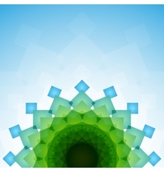 Blue and green blended transparent rectangles on vector