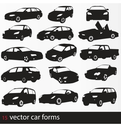 Cars silhouette vector