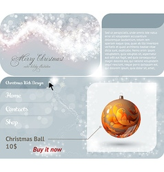 Christmas ball shopping webface vector