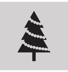 Christmas tree icon vector