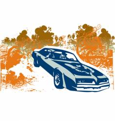 classic car retro illustration vector image vector image