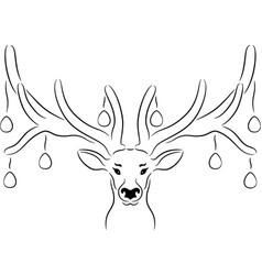 Easter deer vector