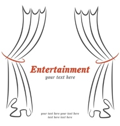 Entertainment poster with curtains vector