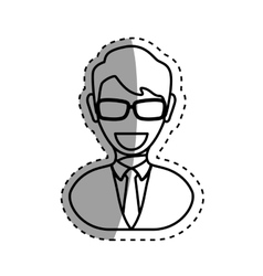 Executive businessman profile vector