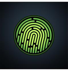 Fingerprint identification system with green vector