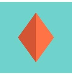 flat icon on background poker diamonds suit vector image
