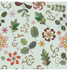 flower twig leaf vector image