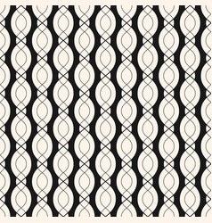 Geometric seamless pattern with smooth wavy lines vector