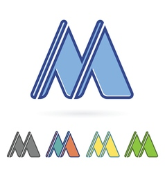 letter M design vector image vector image