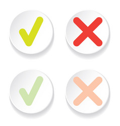 line green check mark or check box icons set vector image vector image