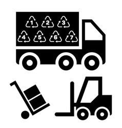 logistic delivery and vector image vector image