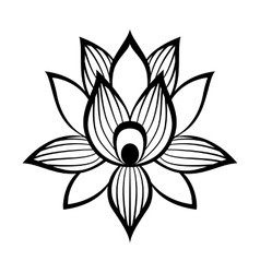 Lotus flower sign vector