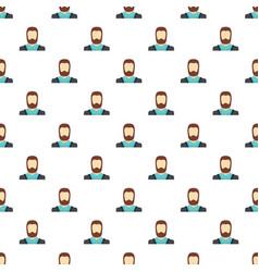Man avatar pattern seamless vector