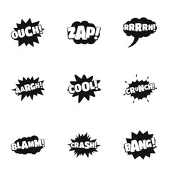marking icons set simple style vector image