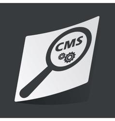 Monochrome cms search sticker vector