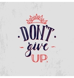 Motivation hand drawn poster black and red vector