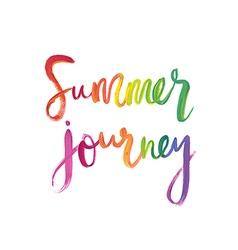 Motivation poster summer journey vector