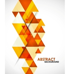Orange business triangles vector