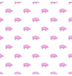 Pig pattern cartoon style vector image