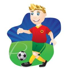 Playing football vector